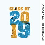 the words class of 2019 concept ... | Shutterstock .eps vector #795350410