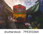 mae klong railway market ... | Shutterstock . vector #795351064