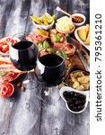 italian antipasti wine snacks... | Shutterstock . vector #795361210
