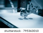 electronic three dimensional... | Shutterstock . vector #795363010