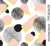 abstract seamless pattern with... | Shutterstock .eps vector #795363628