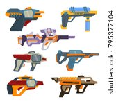 futuristic weapons. space... | Shutterstock .eps vector #795377104
