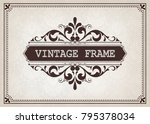 vintage frame with beautiful...   Shutterstock .eps vector #795378034