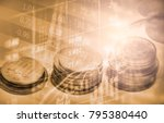 stock market or forex trading... | Shutterstock . vector #795380440