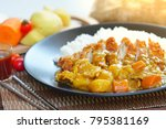 japanese curry is one of the... | Shutterstock . vector #795381169