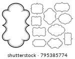 set of vintage style frames ... | Shutterstock .eps vector #795385774