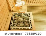 sauna room with traditional... | Shutterstock . vector #795389110
