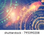 technology and connection... | Shutterstock . vector #795390208