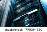 server technology in datacenter ... | Shutterstock . vector #795394330