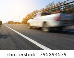 car on road car driving on... | Shutterstock . vector #795394579