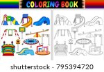 Coloring Book With Playground...