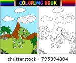 coloring book with... | Shutterstock .eps vector #795394804