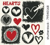 sketchy hearts  hand drawn...   Shutterstock .eps vector #79540168