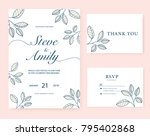 wedding card invitation  | Shutterstock .eps vector #795402868