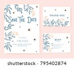 wedding card invitation  | Shutterstock .eps vector #795402874
