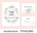 wedding card invitation  | Shutterstock .eps vector #795402880