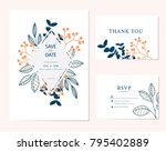 wedding card invitation  | Shutterstock .eps vector #795402889