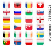 set of 24 ui icons flags for... | Shutterstock . vector #795406126