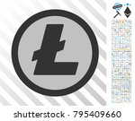 litecoin coin icon with 700... | Shutterstock .eps vector #795409660