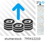 spend dash coins pictograph... | Shutterstock .eps vector #795412210