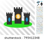 bitcoin citadel pictograph with ... | Shutterstock .eps vector #795412348