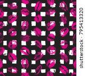 xoxo style kisses brush grunge... | Shutterstock .eps vector #795413320