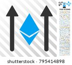 ethereum crystal send arrows... | Shutterstock .eps vector #795414898