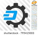 dash process gear icon with 700 ...