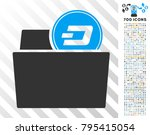 dash folder pictograph with 700 ... | Shutterstock .eps vector #795415054