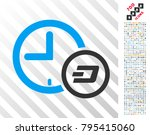 dash credit clock icon with 700 ... | Shutterstock .eps vector #795415060