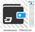 dash wallet icon with 7 hundred ... | Shutterstock .eps vector #795415114