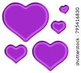 shiny silky purple assorted...   Shutterstock . vector #795416830