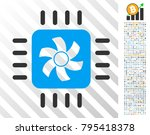 cpu cooler pictograph with 700... | Shutterstock .eps vector #795418378