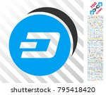 dash coins icon with 7 hundred... | Shutterstock .eps vector #795418420