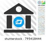 dash bank building pictograph... | Shutterstock .eps vector #795418444