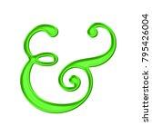 shiny bright green plastic... | Shutterstock . vector #795426004
