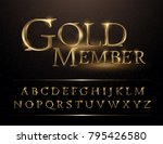 set of elegant gold colored... | Shutterstock .eps vector #795426580