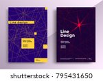 minimal line covers design.... | Shutterstock .eps vector #795431650