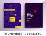 minimal line covers design.... | Shutterstock .eps vector #795431650