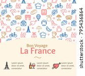 france travel and tourism... | Shutterstock .eps vector #795436864