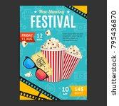 cinema movie festival placard... | Shutterstock .eps vector #795436870