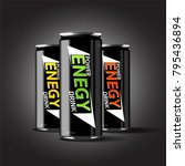 energy drink illustration 3d... | Shutterstock .eps vector #795436894