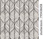 decorative vector seamless wave ... | Shutterstock .eps vector #795438658