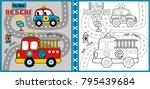 rescue team cartoon  coloring...   Shutterstock .eps vector #795439684