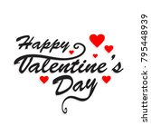 happy valentine's day beautiful ... | Shutterstock .eps vector #795448939