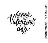 happy valentine's day. romantic ... | Shutterstock .eps vector #795451684