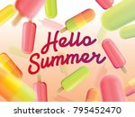 hello summer on the background... | Shutterstock .eps vector #795452470
