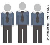 figures in suit with tie.... | Shutterstock .eps vector #795454378