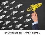 leadership concepts on... | Shutterstock . vector #795455953