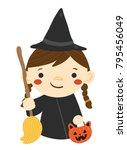 vector cartoon illustration of... | Shutterstock .eps vector #795456049
